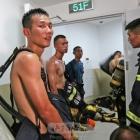 消防员7分钟爬到53楼