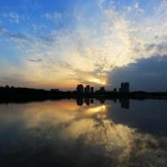 青龙湖晚霞
